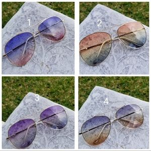 Aviator unisex sunglasses uv protection clear tran